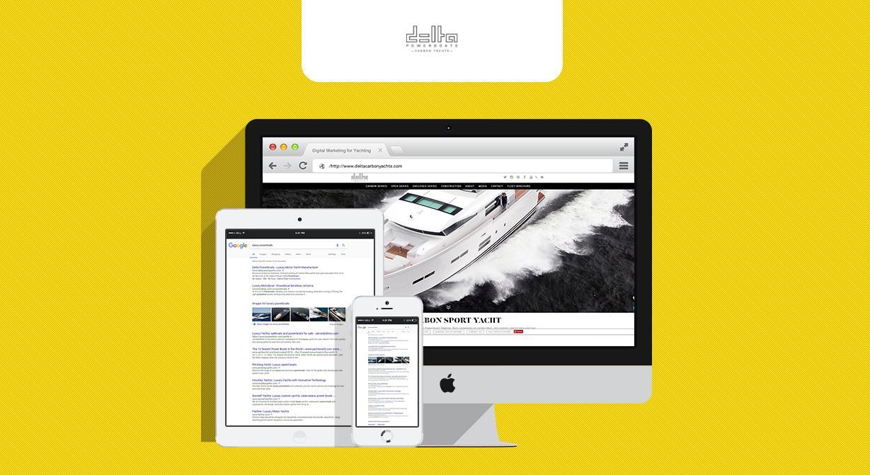 digital marketing for yachting company - delta powerboats