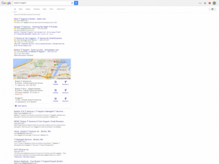 page one google organic keyword ranking for boston it support