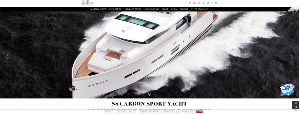 delta carbon yachts website optimization
