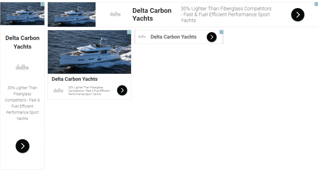 google display advertising yacht marketing delta carbon yacht 88