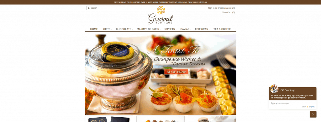 gourmet boutique shopify ecommerce design photography